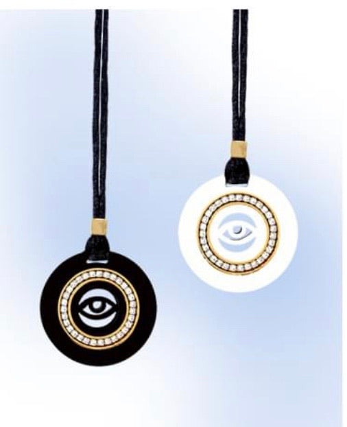 Evil eye necklace with cord chain