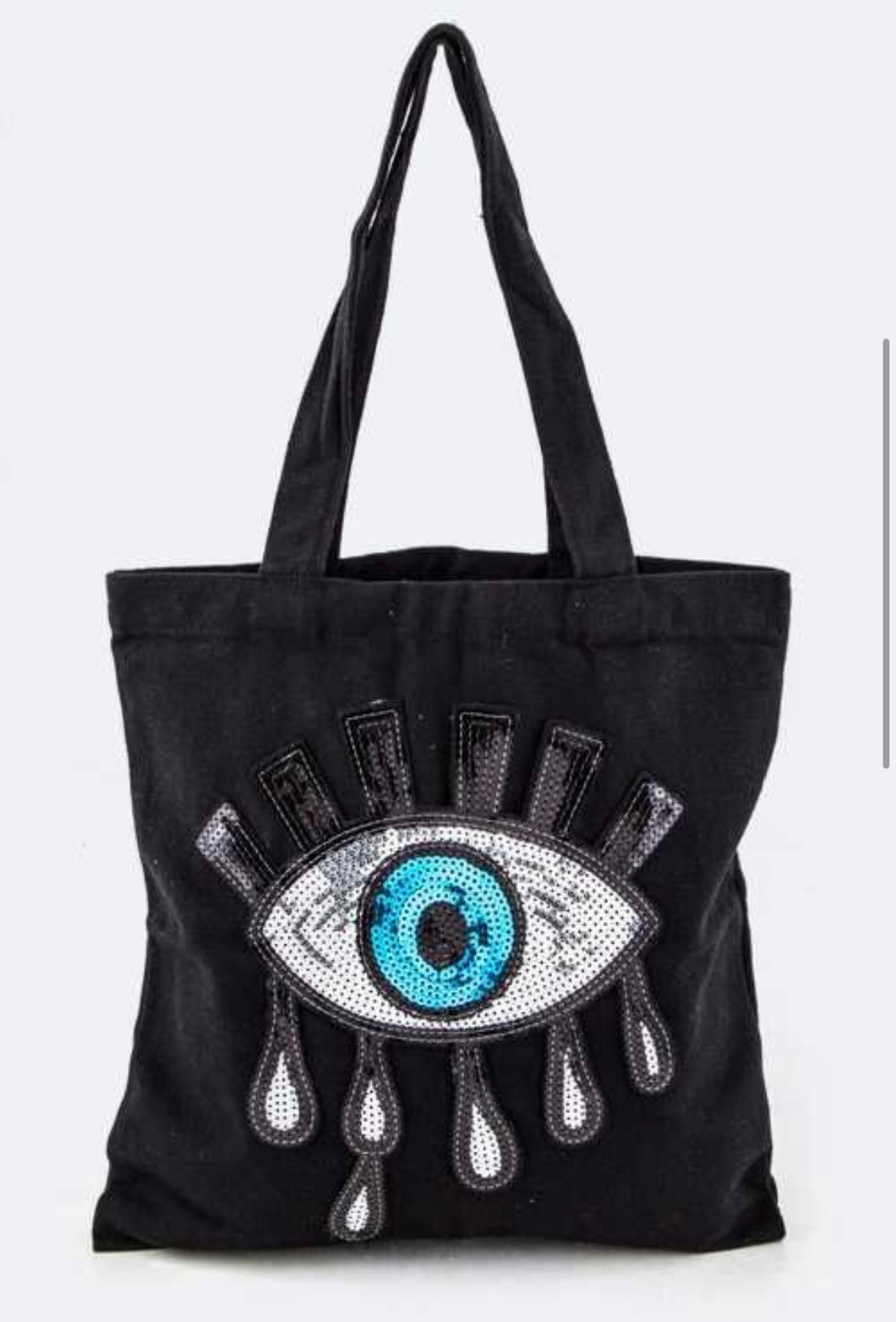 Evil eye canvas totes