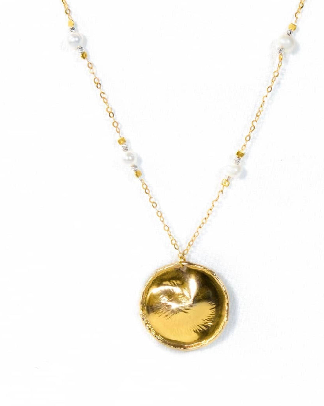 Nephele coin necklace
