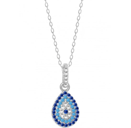 Evil eye necklace set with earrings