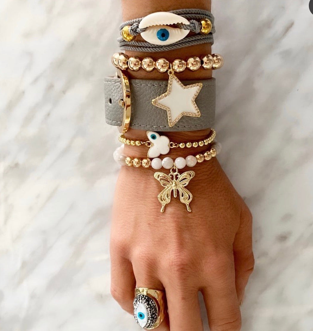 Eye shell wrap bracelet