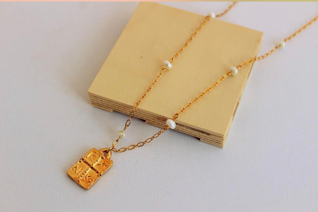 24k gold  plated Konstantinato necklace