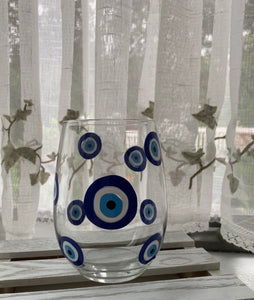 Evil eye wine glasses