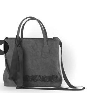 Grey suede Christina Malle  handbag