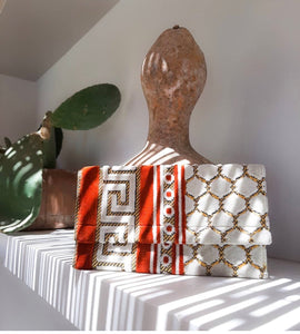 Greek Meander Niki  clutch's