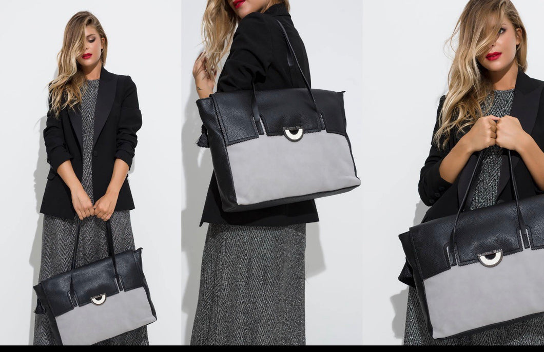 Black /Grey tote