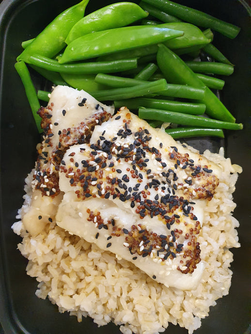 Mustard & Sesame Coated Cod Fillet