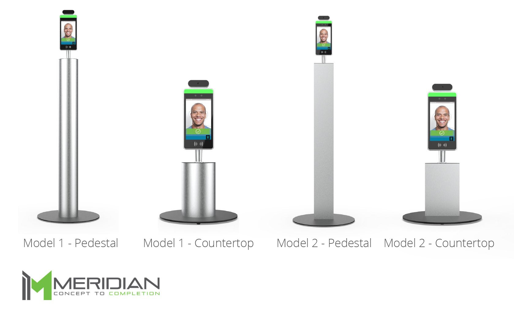 Meridian Personnel Management Kiosk freestanding and countertop configurations