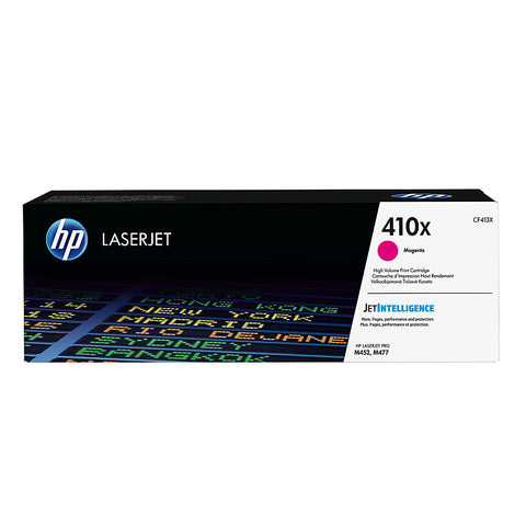 HP 410X (CF413X) Color LaserJet Pro M452 MFP M477 High Yield Magenta Original LaserJet Toner Cartridge (5000 Yield)