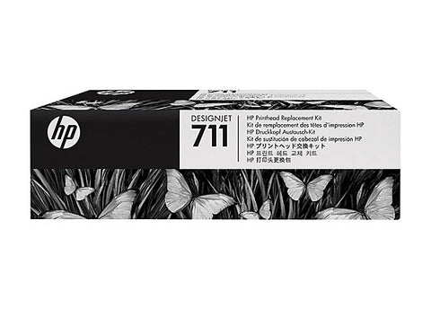 HP 711 (C1Q10A) Printhead Replacement Kit (Includes Printhead Assembly and 4 Ink Cartridges)