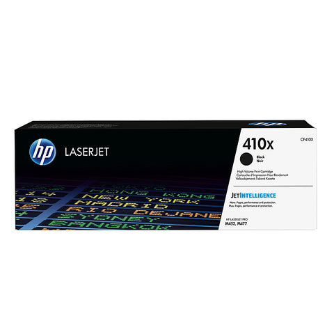 HP 410X (CF410X) Color LaserJet Pro M452 MFP M477 High Yield Black Original LaserJet Toner Cartridge (6500 Yield)