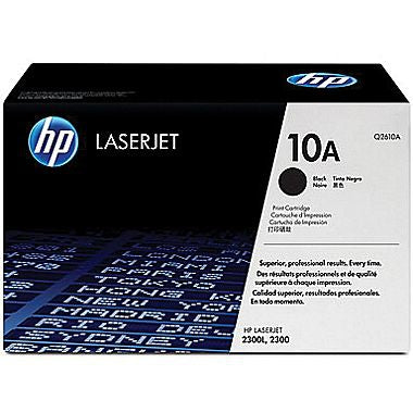 HP 10A (Q2610A) LaserJet 2300 Black Original LaserJet Toner Cartridge (6000 Yield)