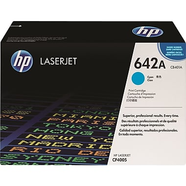 HP 642A (CB401A) Color LaserJet CP4005 Cyan Original LaserJet Toner Cartridge (7500 Yield)