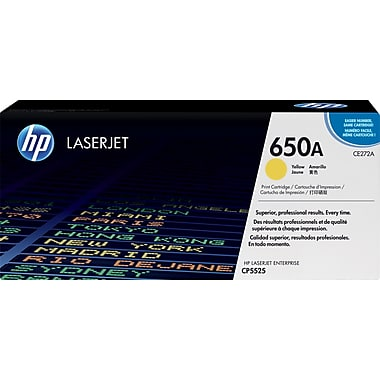 HP 650A (CE272A) Color LaserJet CP5525 M750 Yellow Original LaserJet Toner Cartridge (15000 Yield)