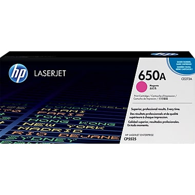 HP 650A (CE273A) Color LaserJet CP5525 M750 Magenta Original LaserJet Toner Cartridge (15000 Yield)