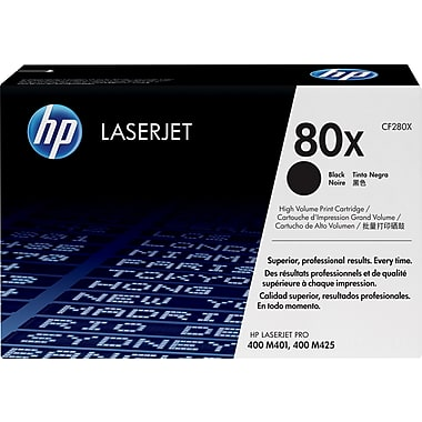 HP 80X (CF280X) LaserJet Pro 400 M401 400 MFP M425 High Yield Black Original LaserJet Toner Cartridge (6900 Yield)