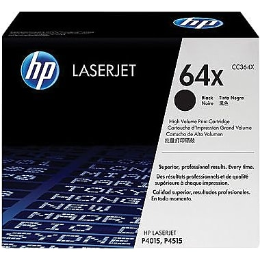 HP 64X (CC364X) LaserJet P4015 P4515 High Yield Black Original LaserJet Toner Cartridge (24000 Yield)