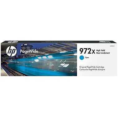 HP 972X (L0R98AN) PageWide Pro 452 477 552 577 High Yield Cyan Original PageWide Cartridge (7000 Yield)
