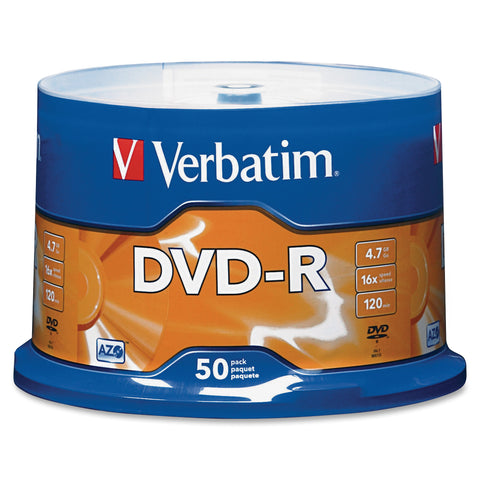 Verbatim America, LLC DVD-R (4.7 GB) (16x) Branded (Pk=50/Spindle)