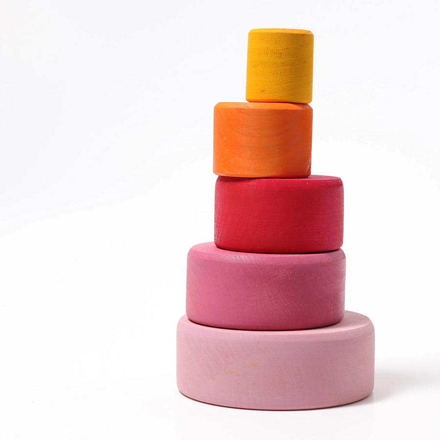 Grimm's Coloured Stacking Bowls - Lollipop