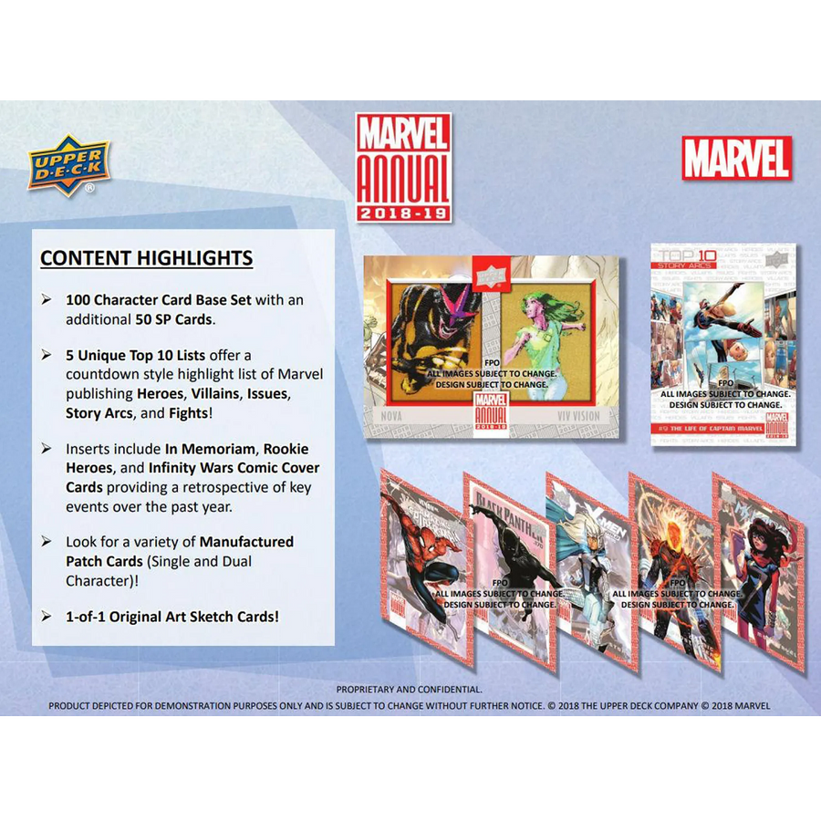 Marvel Annual Trading Cards (Upper Deck 2018/19) (5 per pack)