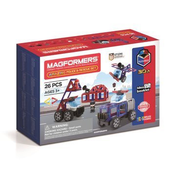 Magformers Amazing Police & Rescue Set