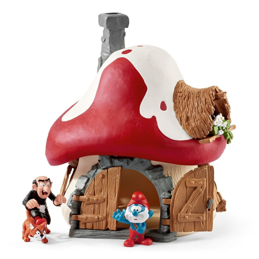 Schleich - Smurf House with 2 Figurines Play Set