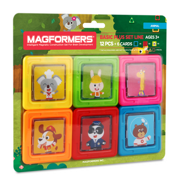Magformers Card Plus Animal Set 12Pcs