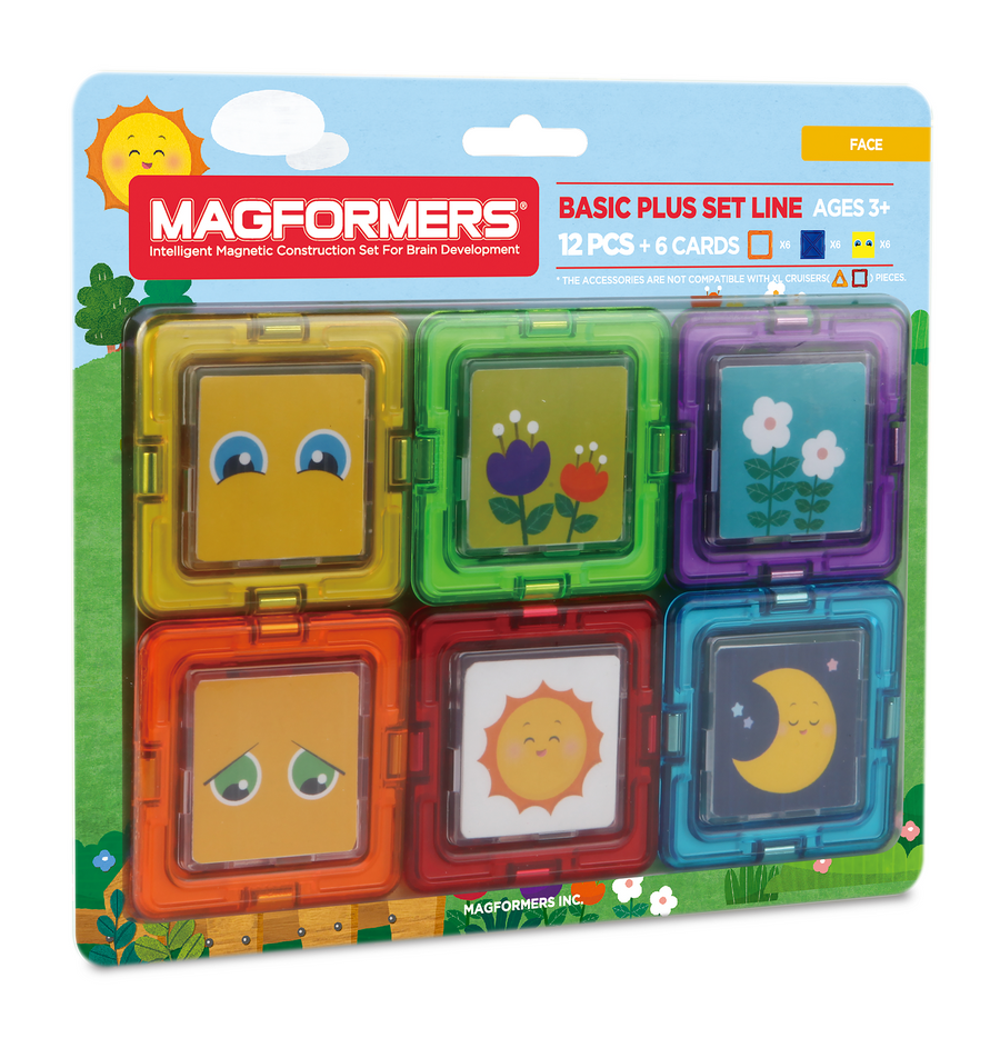 Magformers Card Plus Face Set 12 Pcs