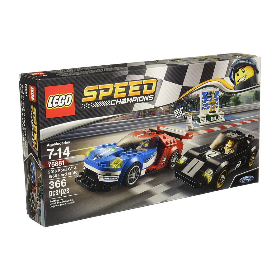 LEGO - 75881 Speed Champions 2016 Ford GT & 1966 Ford GT40