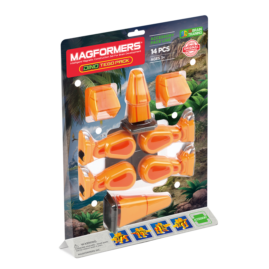Magformers Dino Tego Accessory Pack 14 pcs