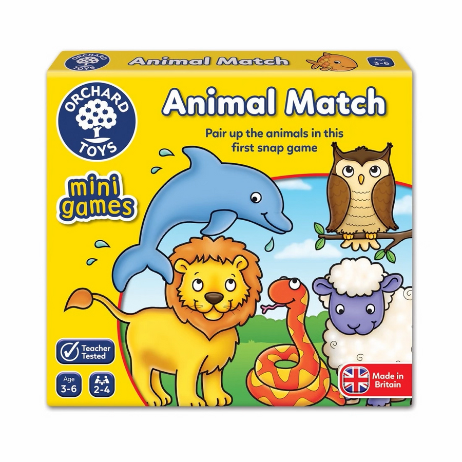 Orchard Toys - Animal Match Mini Game 3-6yo