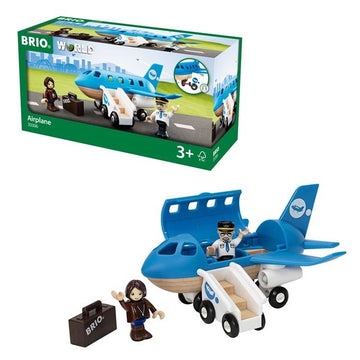 BRIO World - Blue Passenger Airplane 5pcs