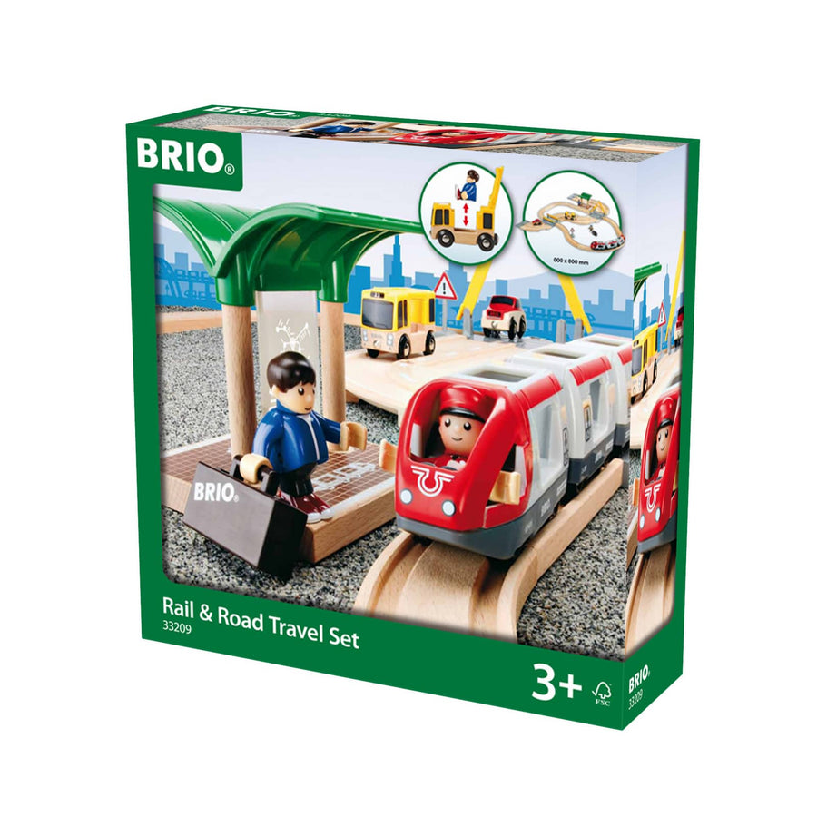 BRIO Rail & Road Travel Set 33 pieces