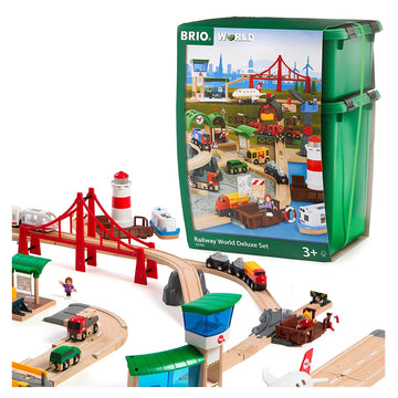 BRIO Railway World Deluxe Wooden Train Set 106pcs