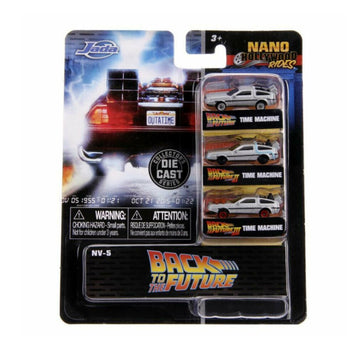 Jada Toys Nano Hollywood Rides - Back to the Future Delorean 3-pack