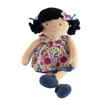 Bonnika Flower Kid Doll - Lilac with Black Hair