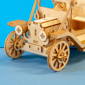 Kigumi - Classic Car 3D Plywood Puzzle Smart Phone Holder