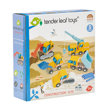 Tender Leaf Toys - Construction Site - 5 cosntruction vehicles 3+