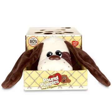 Pound Puppies™ 80s Classic Collection - Cream with Medium Brown Spots Puppy