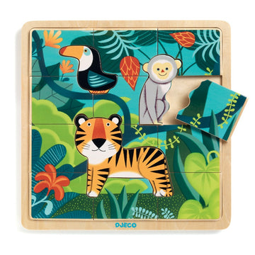 Djeco - Jungle Wooden Puzzle 15pcs 3+