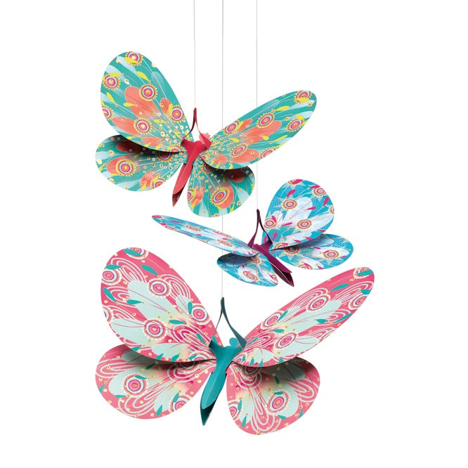 Djeco - Glitter Butterflies Mobile Lightweights