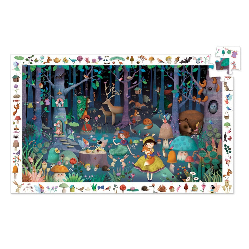 Djeco Puzzle Observation - Enchanted Forest 100pc 5+