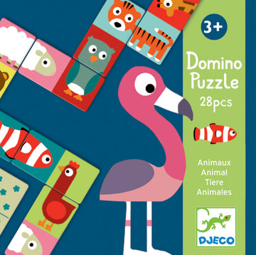 Djeco - Animal Puzzle Domino 28pcs