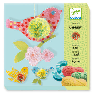 Djeco - Birds Pompoms Wool Craft