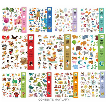 Djeco - Packs of Stickers (Assorted)