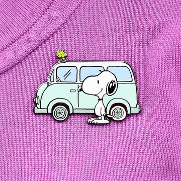 Erstwilder x Peanuts - Snoopy on the Road Enamel Pin