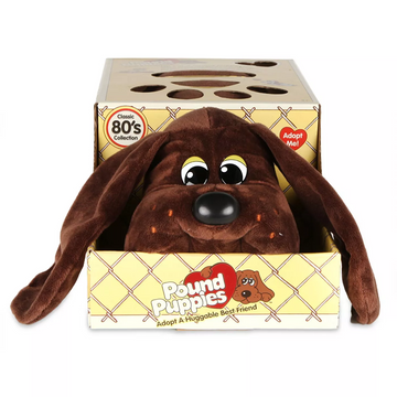 Pound Puppies™ 80s Classic Collection - Dark Brown Puppy