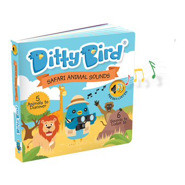 Ditty Bird - Safari Animal Sounds Musical Board Book