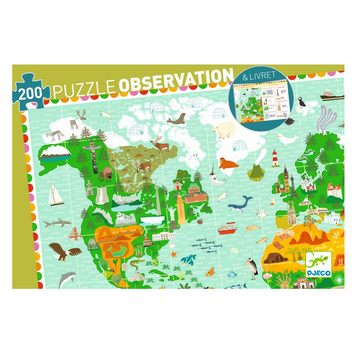 Djeco Puzzle Observation - Around the World 200pc 6+